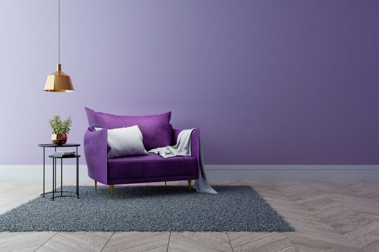 Interior Spaces Using Purple Paint Colors