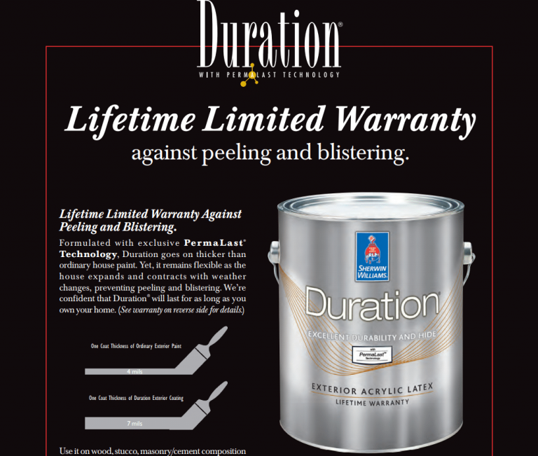 A Thicker Coat With SW Duration Exterior Paint